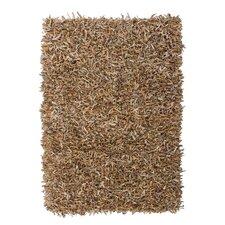 Handgewebter Teppich Terence in Beige