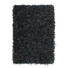 Handgewebter Teppich Terence in Schwarz