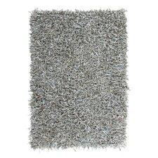 Handgewebter Teppich Terence in Grau