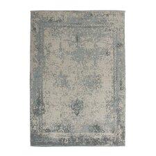 Handgewebter Teppich Nostalgia in Grau