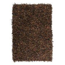 Handgewebter Teppich Terence in Braun