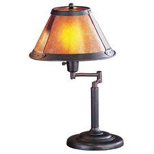 "Swing Arm 18"" H Table Lamp with Empire Shade"