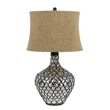 "Puebla 3 Way 30"" H Table Lamp with Oval Shade"