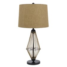 "Monticello 3 Way 31"" H Table Lamp with Drum Shade"