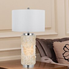 "Sapelo 3 Way Seashell 30"" H Table Lamp with Drum Shade"