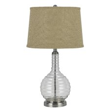 "3-Way Glass 28.5"" H Table Lamp with Empire Shade"
