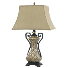 "Montgomery 3-Way Resin 22.5"" H Table Lamp with Bell Shade"