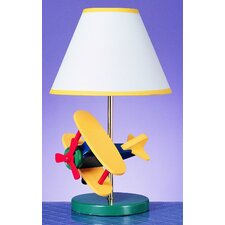 """Juvenile Airplane 15"""" H Table Lamp with Empire Shade"""