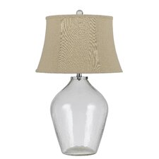 "Edison 3-Way Glass 28"" H Table Lamp with Bell Shade"
