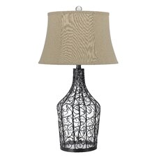 "Palestin 3-Way Glass 31"" H Table Lamp with Bell Shade"