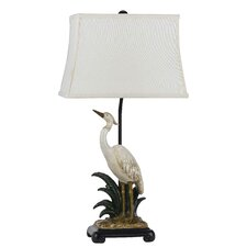 """Egred Resin 30.5"""" H Table Lamp with Square Shade"""