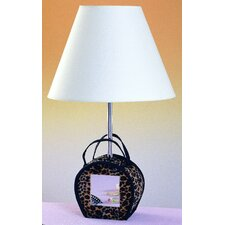"""Mirrored 21"""" H Table Lamp with Empire Shade"""