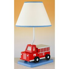 """Juvenile Fire Truck 20"""" H Table Lamp with Empire Shade"""