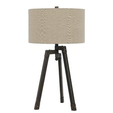 "Tripod 31.5"" H Table Lamp with Drum Shade"
