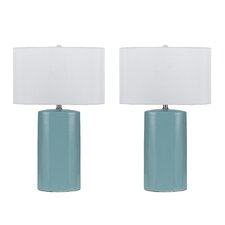 """Minorca 3 Way 27"""" H Table Lamp with Drum Shade"""