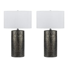 "Brava 3 Way 28.5"" H Table Lamps with Drum Shade (Set of 2)"