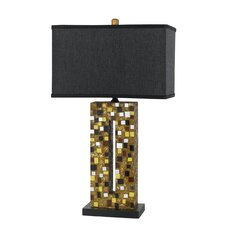 """Mirrored 28.5"""" H Table Lamp with Rectangular Shade"""