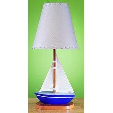 "Juvenile Sail Boat 15"" H Table Lamp with Empire Shade"