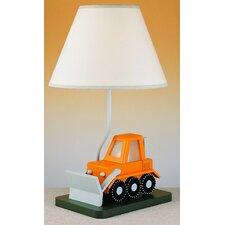 "Juvenile Bulldozer 20"" H Table Lamp with Empire Shade"