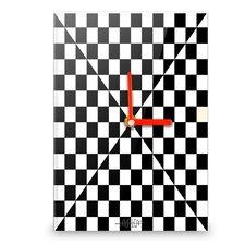 Wanduhr Square Illusion