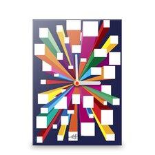 Wanduhr Burst of Colour Blocks II