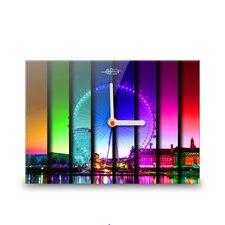 Große Wanduhr Colours of London