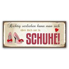 Schild Schuhe! Typografische Kunst