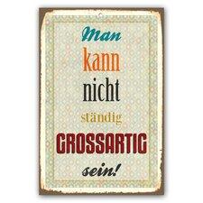 Schild Grossartig - 45 x 30 cm