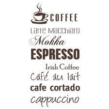 Wandtattoo Coffee - Espresso - Cappuccino - …