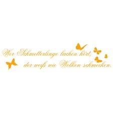 Wandtattoo Wer Schmetterlinge lachen hört, …