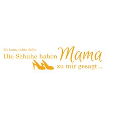 Wandtattoo Schuhe - Mama