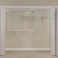 "ShelfTrack 60"" - 96"" Wide Adjustable Closet System"