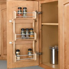Cabinet Door Mount 3 Shelf Spice Rack