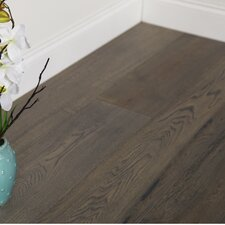 "7-1/2"" Engineered White Oak Hardwood Flooring in Gettysburg Grey"