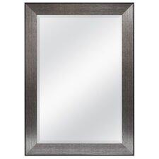 Pewter Beveled Wall Mirror