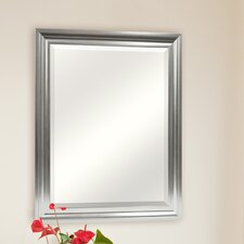 Satin Silver Beveled Mirror