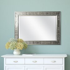 Silver Medallion Beveled Wall Mirror
