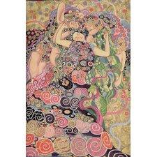 Les Vierges by Gustav Klimt Tapestry