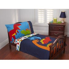 Prehistoric Pals 4 Piece Toddler Bedding Set