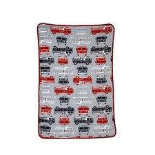 Fire Truck Printed Coral Fleece Blanket