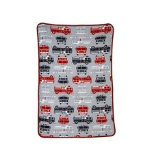 Fire Truck Printed Coral Toddler Fleece Blanket
