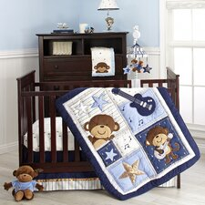 Monkey 4 Piece Crib Bedding Set