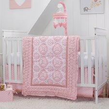 Heart of Gold 4 Piece Crib Bedding Set