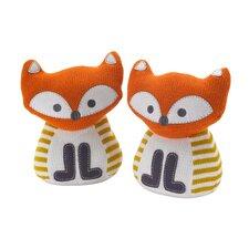Woods Knit Fox Friends Book End (Set of 2)