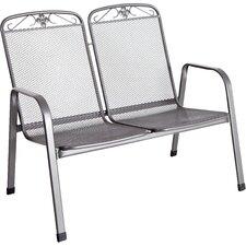 2-Sitzer Gartenbank Savoy aus Stahl