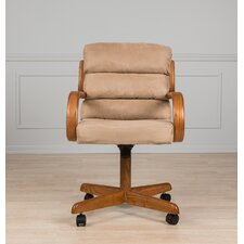 Mid-Back Dining Caster Chair with Arms