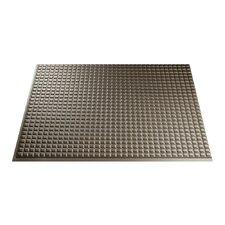 "Squares 24.25"" x 18.25"" PVC Backsplash Panel in Argent Bronze Kit"