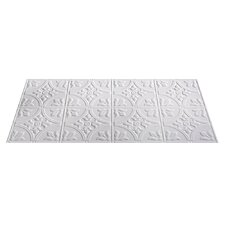 Traditional 2 ft. x 4 ft. Glue-Up Ceiling Tile in Matte White