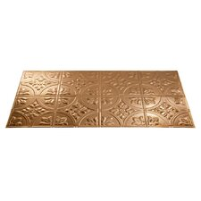Traditional 2 4 ft. x 2 ft. Glue-Up Ceiling Tile in Polished Copper