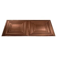 Traditional 3 4 ft. x 2 ft. Glue-Up Ceiling Tile in Oil-Rubbed Bronze